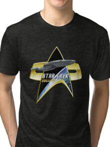 StarTrek Vogager Com badge Tri-blend T-Shirt