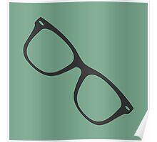 Hipster Glasses - Blue Poster