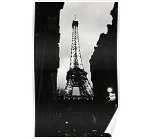 Tour Eiffel - from a dark alley Poster