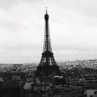 Tour Eiffel - view from above by Georgina Morrison