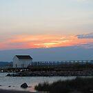 York River Sunset by Jennie L. Richards