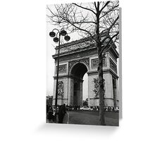 Arc de Triomphe - a winter stroll Greeting Card