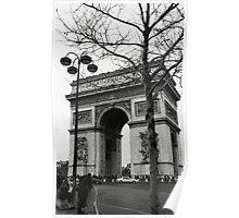 Arc de Triomphe - a winter stroll Poster