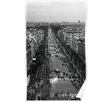 Champs Elysées - winter traffic Poster