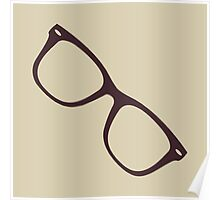 Hipster Glasses - Brown Poster