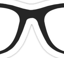 Hipster Glasses - Straight Sticker