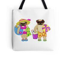 Beach Pugs Tote Bag