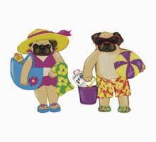 Beach Pugs One Piece - Short Sleeve