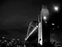 Sydney Harbour Bridge, Black & White! by Bernie Stronner