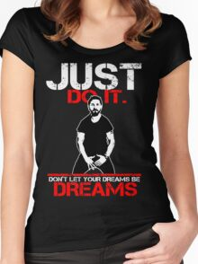 Shia Labeouf Dreams (Black Version) Women's Fitted Scoop T-Shirt