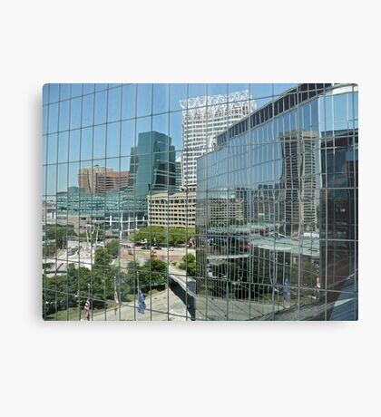 Reflecting On Downtown Baltimore - Maryland - US *featured Metal Print
