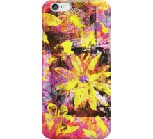 Flower in Black Square 13- Digitally Altered Print by Heather Holland iPhone Case/Skin