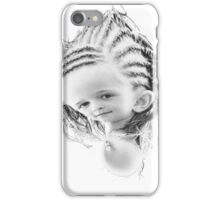 young girl with rasta coup iPhone Case/Skin