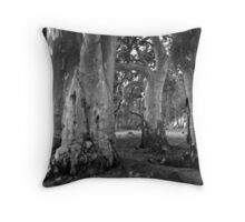 Scary Trees - Mount Brown Station Throw Pillow