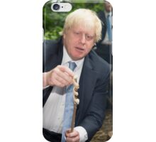 London Mayor Boris Johnson toasts dough during his visit to new kids' adventure centre in Bexley iPhone Case/Skin