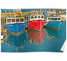 Scallop fishing boats Poster