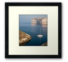 Xlendi Coast Framed Print