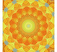 Sunshine Mandala Photographic Print