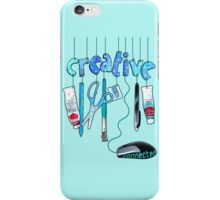 Connected Creative in Blue iPhone Case/Skin