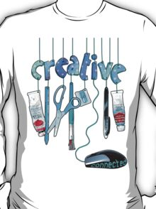Connected Creative in Blue T-Shirt