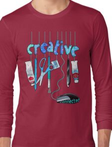 Connected Creative in Blue Long Sleeve T-Shirt