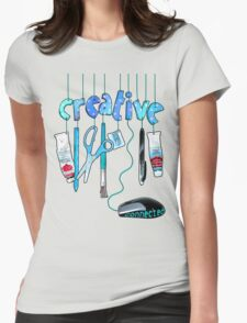 Connected Creative in Blue Womens Fitted T-Shirt