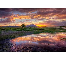 A Rare Sunset Photo by Bob Larson Photographic Print