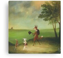 """""""Master Lamb and His Painting Tutor Discoursing on Perspective"""" Canvas Print"""