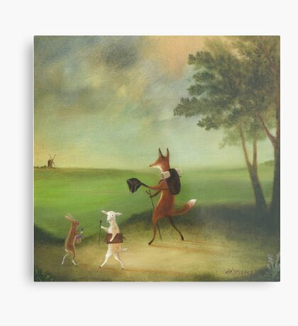 """Master Lamb and His Painting Tutor Discoursing on Perspective"" Metal Print"