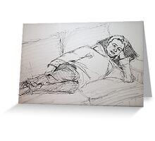 Sketch of Dylan Greeting Card