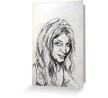Sketch of Laila Greeting Card