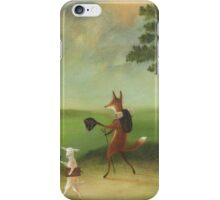 """Master Lamb and His Painting Tutor Discoursing on Perspective"" iPhone Case/Skin"
