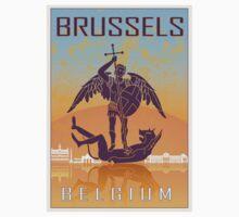 Brussels vintage poster Baby Tee