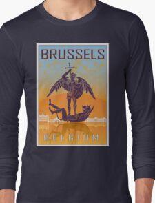 Brussels vintage poster Long Sleeve T-Shirt