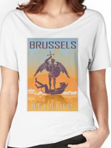 Brussels vintage poster Women's Relaxed Fit T-Shirt