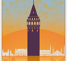 Istanbul vintage poster by paulrommer