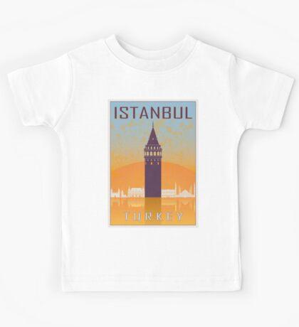 Istanbul vintage poster Kids Tee