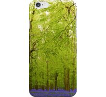 Awesome blubell wood iPhone Case/Skin