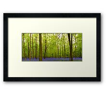 Awesome blubell wood Framed Print