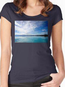Lake Pukaki New Zealand Women's Fitted Scoop T-Shirt