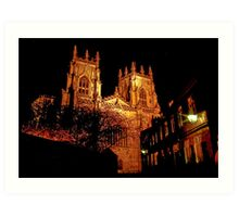 York Minster by Light Art Print