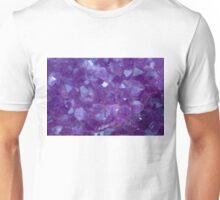 amethyst crystal stone detail Unisex T-Shirt