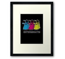Doctor Who - Exterminate! Framed Print