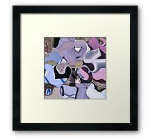 Psychedelia coast -  pink & purple collage Framed Print