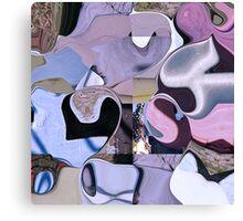 Psychedelia coast -  pink & purple collage Canvas Print
