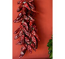 dried peppers Photographic Print