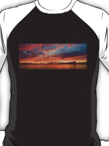 panoramic sunset in the Guadiana river T-Shirt