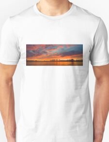 panoramic sunset in the Guadiana river Unisex T-Shirt