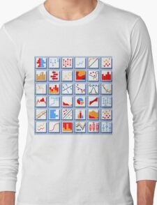 Stats Element Set in Various Colors Long Sleeve T-Shirt