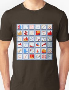Stats Element Set in Various Colors Unisex T-Shirt